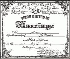 certificates of marriage