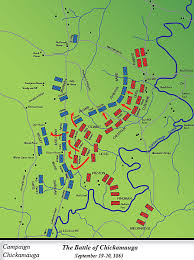 map of the battle of chickamauga