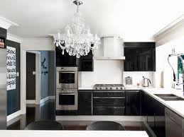 Black White Kitchen kitchen with black white dominant