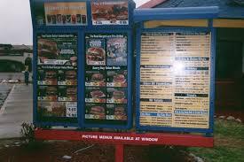 burger king menu board
