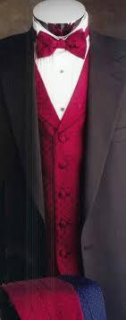red tuxedo vests