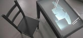 glass study table