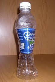 empty bottle of water