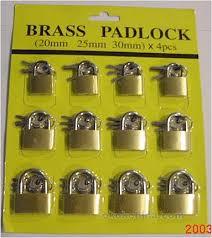 brass padlocks