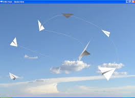 flying paper planes