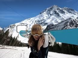 girl snowboard