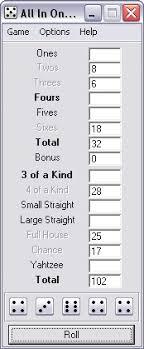 triple yahtzee scorecard