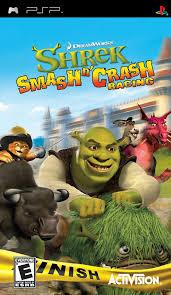 shrek smash n crash psp
