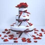 bridal shower towel cakes