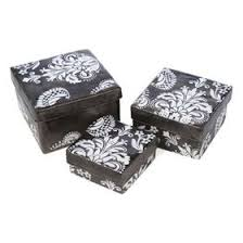 damask boxes