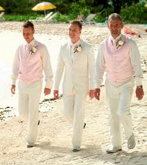 mens beach wedding suit