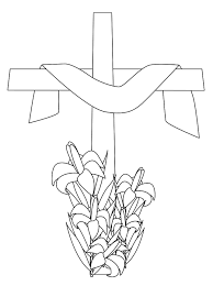 cross coloring picture