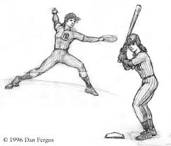 drawings of baseball players