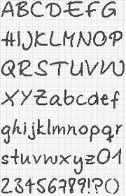 alfabeto em ponto cruz