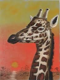 paintings of giraffes