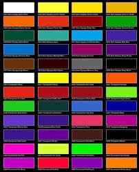 auto color charts