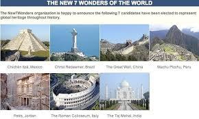 eight wonders of world