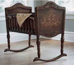 antique wood cradle