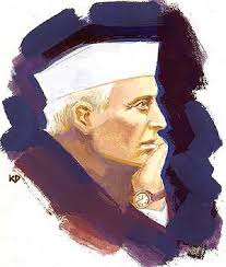 The first minister of India, Jawaharlal Nehru