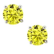 canary yellow diamond earring