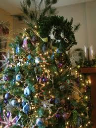 peacock christmas trees