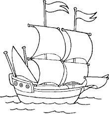 pirate ship colouring in