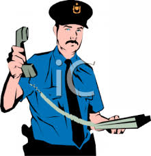 animated police officer