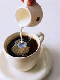 milk with coffee