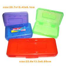 plastic pencil cases