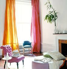 pink and orange curtains