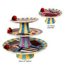 3 tier cake plate