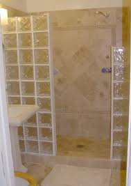glass blocks shower