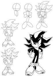 how do you draw sonic