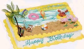 beach cake decorations