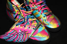 rainbow colored sneakers