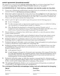 apartment rental agreement forms