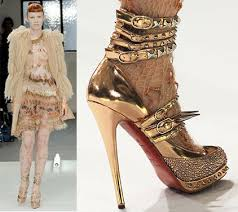 christian louboutin gold shoes