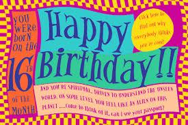 sixteenth birthday cards