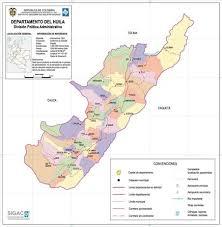 mapa de la region andina