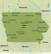 state map of iowa