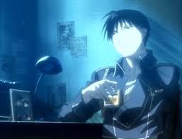 Full metal alchemist Roy-drinking