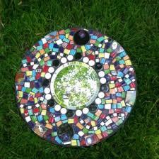 mosaic round mirrors