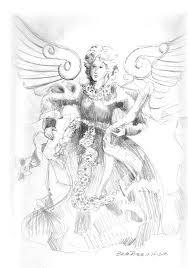 angel sketching