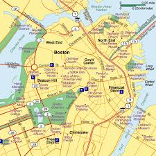 map of boston and surrounding area