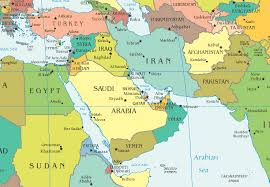 map of mideast countries