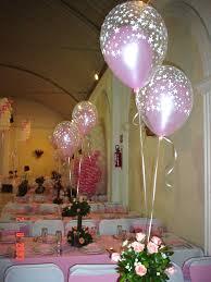 centro de mesas con globos
