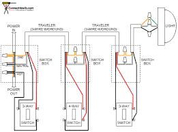 4 way light switch diagram