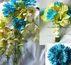 aqua flowers