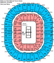 rod laver seating chart
