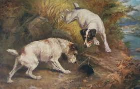 hunting dog painting